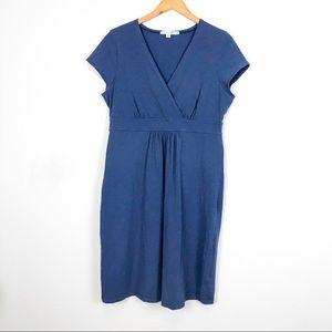 Boden Blue Casual Jersey Dress WH492 Short Sleeve